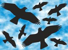 Vögel Vogel Aufkleber 8 Stück  Fensterbild  Wintergarten  Sticker  KITE AN5/1