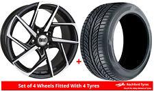 Alloy Wheels & Tyres 8.5x18 DRC DVX Black Polished Face + 2356018 Tyres