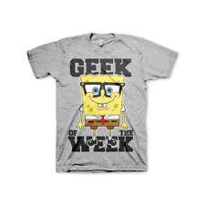 Officially Licensed Sponge Bob Geek of The Week Men's T-Shirt S-XXL Sizes
