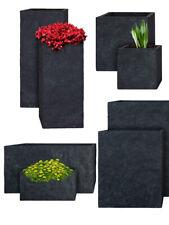 PFLANZWERK® Pflanzkübel & Blumenkübel - Pflanztrog & Blumentopf - Lava Anthrazit