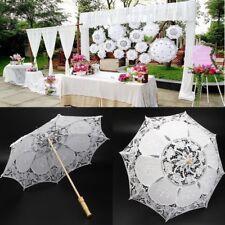 Dames Vintage fait à la main dentelle brodée parasol parapluie mariage noces