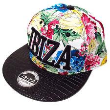 Ibiza Snapback Cap Tropical Flowers Trucker Hat White Multicolour RRP £75.00