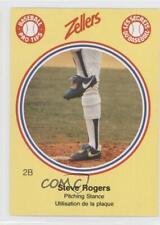1982 Zellers Baseball Pro Tips Montreal Expos #2B Steve Rogers Card