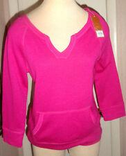 Ladies Sonoma Jazzy Pink 3/4 Sleeve, Split V-Neck Pullover Top Size XS