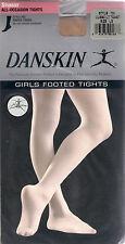 Danskin Children's Dance Tights, Footed Opaque Tan or Ballet Pink, New