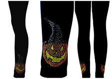 Regular Booty Lifting Contouring Legging Rhinestone Halloween Witch Hat Pumpkins