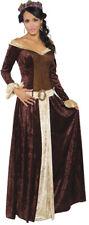 My Lady Adult Women Costume Renaissance Faire Medieval Dress Dark Halloween