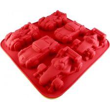 STAMPO PER DOLCI TORTINE PLUM CAKE  IN SILICONE FORMA 6 MACCHININE CARS