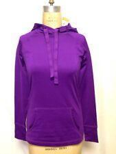 Ideology ID Warm Cowl Neck LS Active Pullover Sweatshirt Purple Stripe NWT