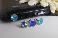 Handy-Schmuck Handy-Staubschutz Stöpsel STRASS / Farbwahl Blau Türkis Hellblau