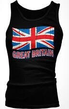 Great Britain Flag British English England UK Olympics Ladies Beater Tank Top