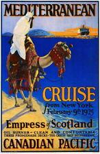 95800 1925 Mediterranean Cruise New York Canada Decor WALL PRINT POSTER AU