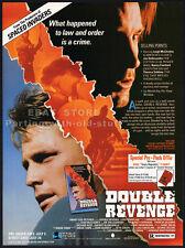 DOUBLE REVENGE__Orig. 1990 Trade print AD promo__NANCY EVERHARD__JOE DALLESANDRO