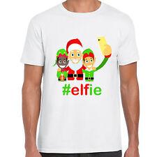 grabmybits - Hashtag Elfie Christmas T Shirt, Xmas Gift, selfie cartoon tee