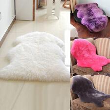 Luxury Fluffy Carpet Faux Fur Sheepskin Rug Soft Floor Mat Home Room Chair Cover