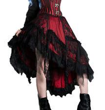 gothique steampunk burlesque ruffle-skirt Jupe Gingembre ROUGE-NOIR NEUF