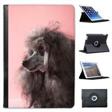 Poodle Dog With Pink Background Folio Leather Case For iPad Mini & Retina