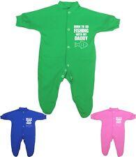 babyprem vêtements de bébé Nouveauté pêche avec Daddy babygrow Grenouillères