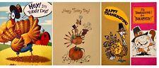 Thanksgiving Humor Cards Envelopes Vintage Hallmark A.G.Reed Starline