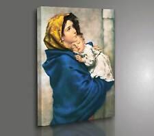 Quadro Capezzale Madonna col Bambino Ferruzzi - Stampa su Tela Canvas Arte Sacra
