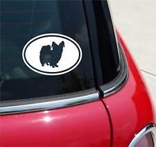 PAPILLON PAPILLONS DOG GRAPHIC DECAL STICKER ART CAR WALL EURO OVAL