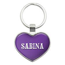 Metal Keychain Key Chain Ring Purple I Love Heart Names Female S Sabi