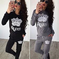 donna lettere stampa Felpe con cappuccio sportiva maglia & Pantaloni tuta