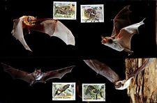 WWF  Fledermäuse. 4 Maximumkarten. Bulgarien 1989