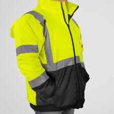 10284f460 Hi-Vis Class 3 Safety Jacket Neon Reflective Coat Bomber Jacket L XL XXL  XXXL