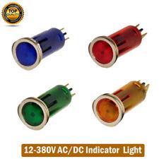 LED Car Boat Indicator Pilot Dash Dashboard Panel Warning Light Lamp 12-380V