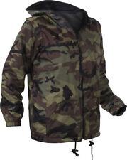 Kids Woodland Camo Reversible Fleece Lined Nylon Jacket With Hood 8275 Rothco