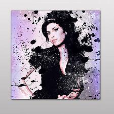 Amy WINEHOUSE-qualità di stampa su tela-mozzafiato Incorniciato Wall Art-scegli dimensioni