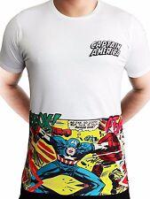 Capitán América Escudo Vengadores Marvel Comics con licencia de guerra civil Camiseta Blanca De Hombre