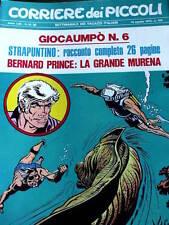 Corriere dei Piccoli 33 1970 I Puffi Valentina Mela Verde Bernard Prince