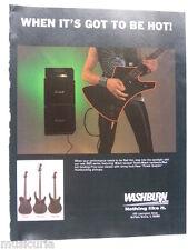 retro magazine advert 1985 WASHBURN BBR guitar