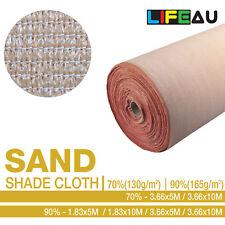 LiFEAU 70% 90% SAND UV Shade Cloth Shadecloth Sail Garden Mesh Roll Outdoor TT