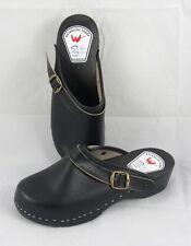 Clogs Holzclogs Holzschuhe Schuhe schwarz für Damen und Herren