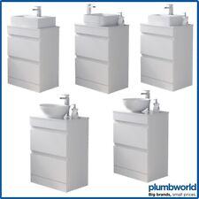 Bathroom Basin Wash Sink Vanity Unit Countertop Floor Standing White 600mm 800mm