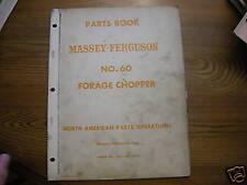 Massey Ferguson 60 Forage Chopper Parts Book