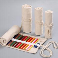 12/18/24 Hole Pouch Wrap Roll Pencil Bag Pen Canvas Holder Storage Case shan