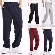 Men Elastic Waist Sweatpants Casual Sport Trousers Walking Yoga Gym Long Pants