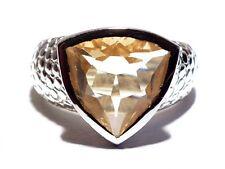 Damen Ring Esmeralda, 925er Silber, 4,5 Kt. Citrin
