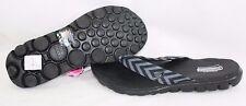 NEW Womens SKECHERS On The Go 13630 BBK GoGa Mat Black Flip Flops Thong Sandals