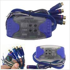 Car SUV Stereo Radio Speaker Wire 4-Way RCA Hi/Lo Line Level Converter Adaptor