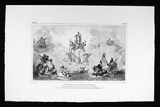 Debret Brazil Print - Ballet historique Theatre de la Cour Rio de Janeiro 1818