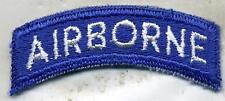 US Army Airborne Blue & White Patch Tab Cut Edge