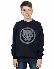 Marvel Garçon Black Panther Distressed Icon Sweat-Shirt