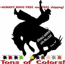 Pro Rodeo Saddle Bronc Rider Cowboy Vinyl Decal Sticker for Car Window PBRA USA!