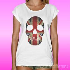"Women's T-Shirt "" Skull United Kingdom Skull "" Gift Idea Road to Happiness"