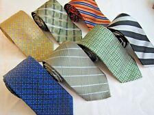 The Tie Bar Silk Luxury Necktie Choose your Pattern Blue Gold Orange Green